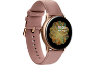 SAMSUNG  Galaxy Watch Active2 Stainless Steel 40mm (LTE) GO Smartwatch Edelstahl, Echtleder, S/M, Gold