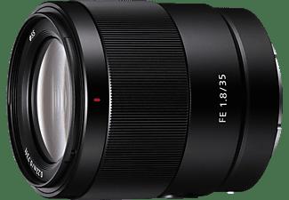 SONY SEL35F18F Vollformat 35 mm - 35 mm f/1.8 ASP, FHB, Circulare Blende, DMR (Objektiv für Sony E-Mount, schwarz)