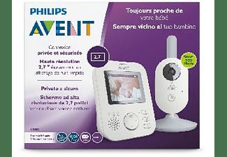 "Vigilabebés - Philips Avent SCD833/01, Autonomía +10h, Pantalla de 2.7"", Alcance 300 metros, Nanas relajantes"