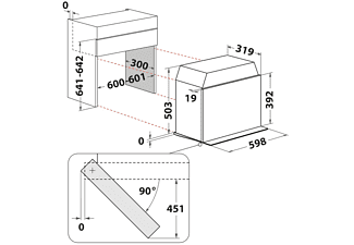 BAUKNECHT MHCK5 2138 PT Kombigerät, Mikrowelle-Dunstabzugshaube (598 mm breit, 320 mm tief)