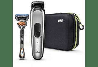 Barbero - Braun Multigrooming Kit MGK7920, De 0.5 a 21 mm, Impermeable + Afeitadora Gillette