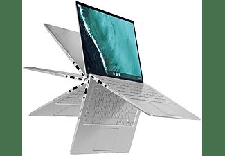 ASUS Chromebook Flip C434TA (C434TA-AI0264), Chromebook mit 14 Zoll Display Touchscreen, Core™ m3 Prozessor, 8 GB RAM, 64 GB eMMC, Intel® HD Grafik 615, Silber