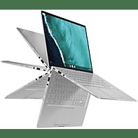 ASUS Chromebook Flip C434TA (C434TA-AI0264), Chromebook mit 14 Zoll Display, Core m3 Prozessor, 8 GB RAM, 64 GB eMMC, Intel® HD Grafik 615, Silber