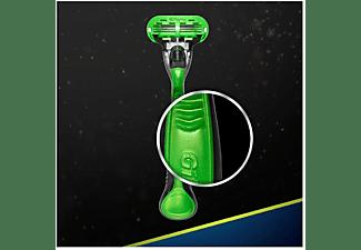 Maquinilla depiladora - Gillette Body, Para depilación corporal masculina, Mango ergonómico, Verde