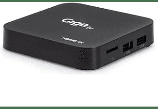 Reproductor multimedia - Giga TV Android HD890 4K, Teclado Wifi, Android TV, 4K, Quad Core, 2GB RAM, Negro