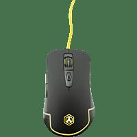 ISY Gaming Maus IGM-1000, schwarz, gelb beleuchtet, USB