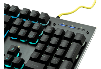 ISY Gaming Tastatur IGK-3000, schwarz, RGB beleuchtet, USB