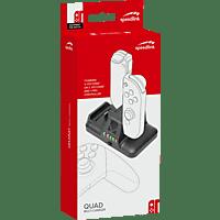SPEEDLINK QUAD Multi-Charger - for Nintendo Switch, black , Ladestation, Schwarz