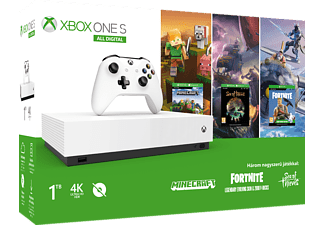 Xbox One S 1TB All Digital + Minecraft + Sea of Thieves + Fortnite letöltőkód