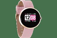 X-WATCH X-WATCH SIONA COLOR FIT (54036) Smartwatch Metall Echtleder, 234 mm, Gehäuse: Rosé Gold/Armband: Rosé Gold