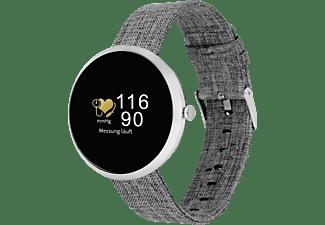 X-WATCH X-WATCH SIONA COLOR FIT (54048) Smartwatch Metall Textil, 234 mm, Gehäuse: Silber/Armband: Silber (Textil)