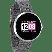 XLYNE X-WATCH SIONA COLOR FIT (54048) Smartwatch Metall Textil, 234 mm, Gehäuse: Silber/Armband: Silber (Textil)