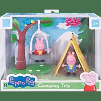 JAZWARES PEPPA - Camping Spaß Spielset Spielfigurenset, Mehrfarbig