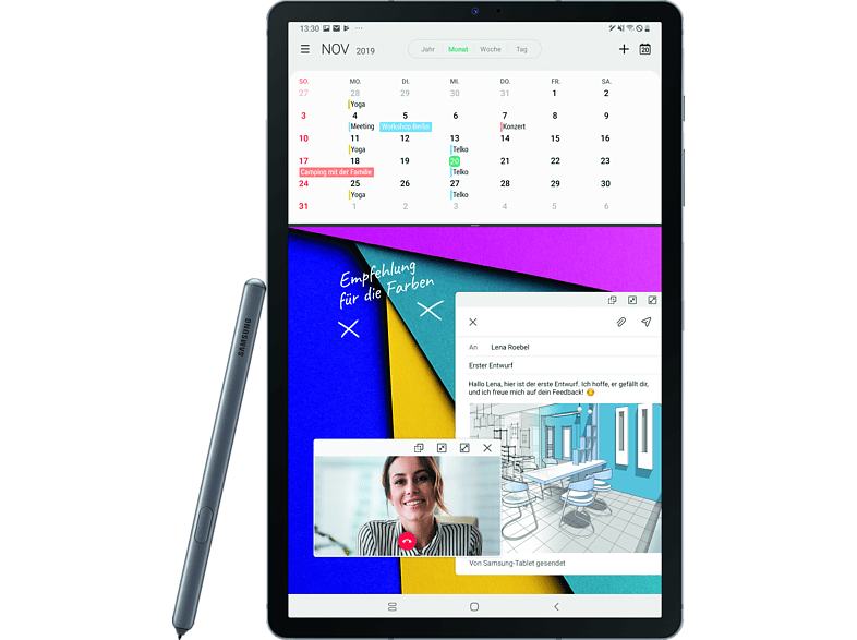 SAMSUNG Tab S6 LTE, Tablet , 256 GB, 10.5 Zoll, Mountain Grey