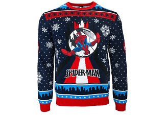 SpiderMan Swinging Xmas JUMPER / SWEATER M