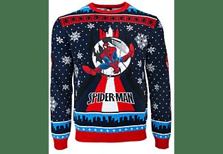 SpiderMan Swinging Xmas JUMPER / SWEATER L