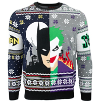 BATMAN VS JOKER CHRISTMAS JUMPER / SWEATER XL