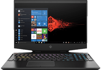 HP OMEN 15-DH0312NG, Gaming Notebook mit 15,6 Zoll Display, Core™ i7 Prozessor, 16 GB RAM, 512 GB SSD, GeForce RTX™ 2070, Schwarz