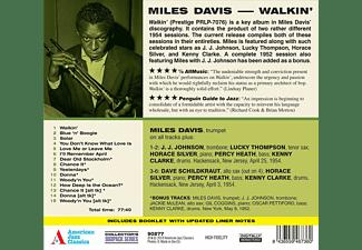 Miles Davis - Walkin'+9 Bonus Tracks!  - (CD)