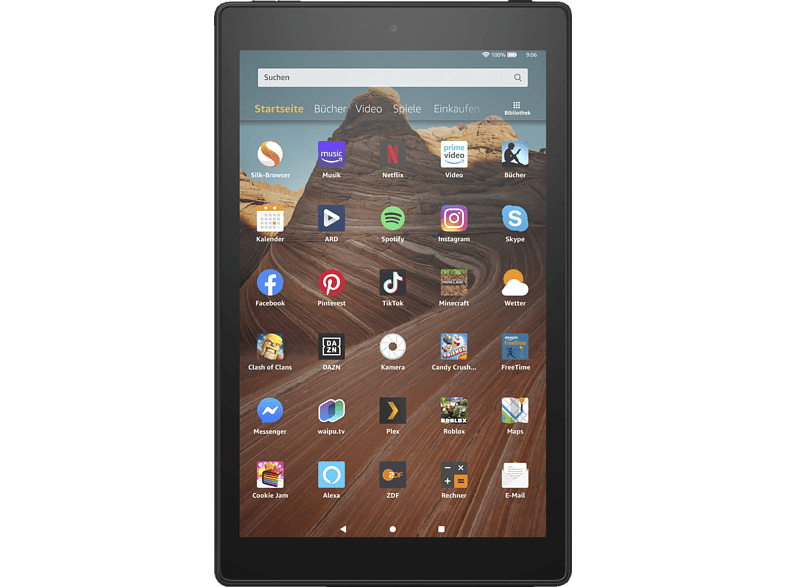 AMAZON Fire HD 10-Tablet mit Alexa, Tablet , 32 GB, 10.1 Zoll, Schwarz
