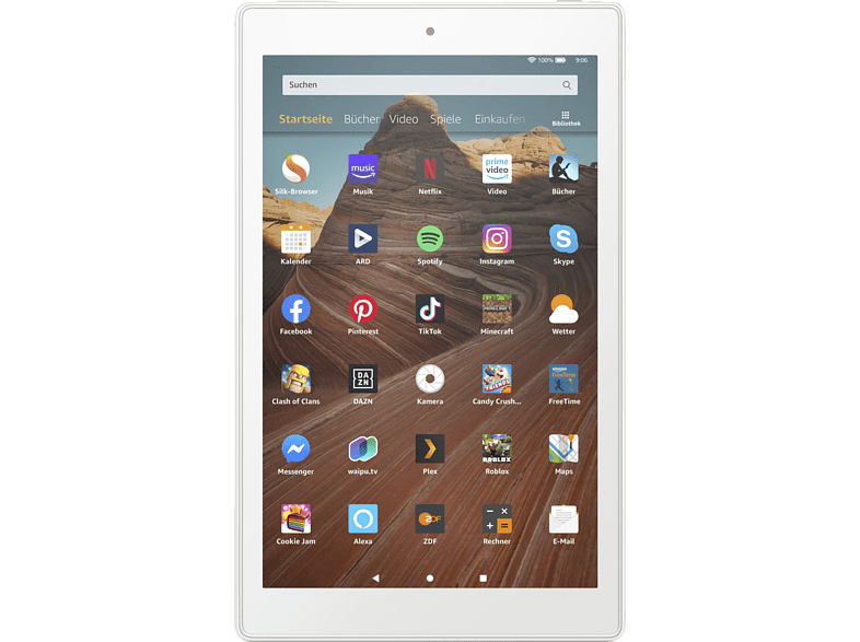 AMAZON Fire HD 10 Tablet with Alexa, Tablet , 32 GB, 10.1 inch, White