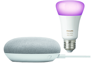GOOGLE Nest Mini en Philips Hue E27-lamp