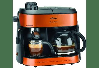 Cafetera semi-automática -  Ufesa CK7355, 10/4 Tazas, 1800W, 1.25 l, Antigoteo, Naranja