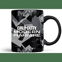 NUMSKULL Official COD Modern Warfare Metal Badge Mug Keramikbecher, Schwarz/Grau