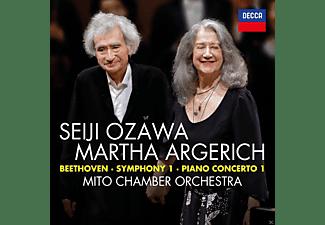Martha Argerich, Seiji Ozawa, Mito Chamber Orchestra - Beethoven: Sinfonie 1 & Klavierkonzert 1  - (CD)
