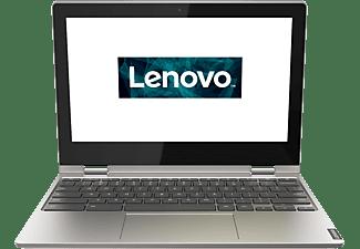 LENOVO Chromebook C340, Chromebook mit 11,6 Zoll Display Touchscreen, Celeron® Prozessor, 4 GB RAM, 64 GB eMMC, Intel UHD Grafik 600, Platinsilber