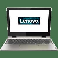 LENOVO Chromebook C340, Chromebook mit 11.6 Zoll Display, Celeron® Prozessor, 4 GB RAM, 64 GB eMMC, Intel UHD Grafik 600, Platinsilber