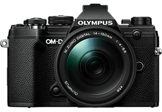 OLYMPUS OM-D E-M5 Mark III Body + M.Zuiko Digital ED 14-150mm F4-5.6 II - Appareil photo à objectif interchangeable (Résolution photo effective: 20.4 MP) Noir