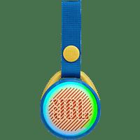 JBL JRPOP Bluetooth-Lautsprecher, Blau, Wasserfest