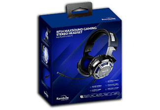 Auriculares gaming - Rainbow RPS4 Maxsound Stereo, Para PS4, Micrófono, Jack 3.5mm, Negro
