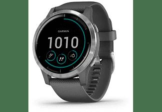 Smartwatch -  Garmin Vivoactive 4, Pantalla táctil, Autonomía hasta 8 días, GPS, Bluetooth, Plata