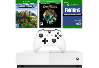 MICROSOFT Xbox One S 1TB All-Digital Edition (Inkl. Sea of Thieves, Minecraft & Fortnite Bonus)