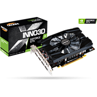 INNO3D GeForce GTX 1660 TI COMPACT 6GB (N166T1-06D6-1710VA) (NVIDIA, Grafikkarte)