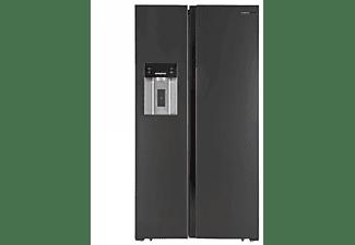 Frigorífico americano - Infiniton ICE MAKER SBS-490I, 552L, NoFrost, Dispensador de agua y hielo, 178cm, Negro