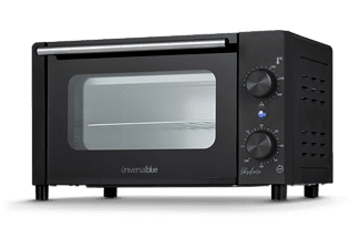 Mini horno - UMH10L1050-19, 1050 W, 10 L, Doble cristal templado, Temporizador 60 min, Negro