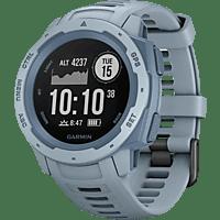 GARMIN Instinct Smartwatch Faserverstärktes Polymer Silikon, S-L, Hellblau/Blau