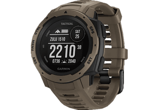 GARMIN Instinct Tactical Edition Smartwatch Faserverstärktes Polymer Silikon, S-L, Hellbraun