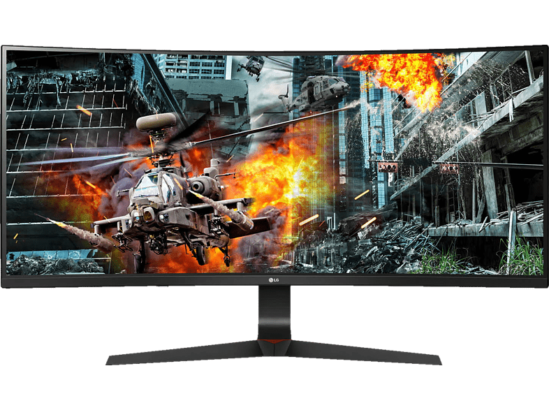LG 34GL750-B Curved UltraGear 34 Zoll UFHD Gaming Monitor 5 ms Reaktionszeit, 144 Hz