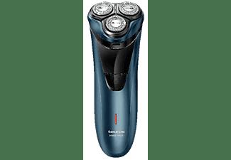 Afeitadora - Taurus 3 Side Shave, Total Curve, Cabezales flotantes, 45 min Autonomía, Azul
