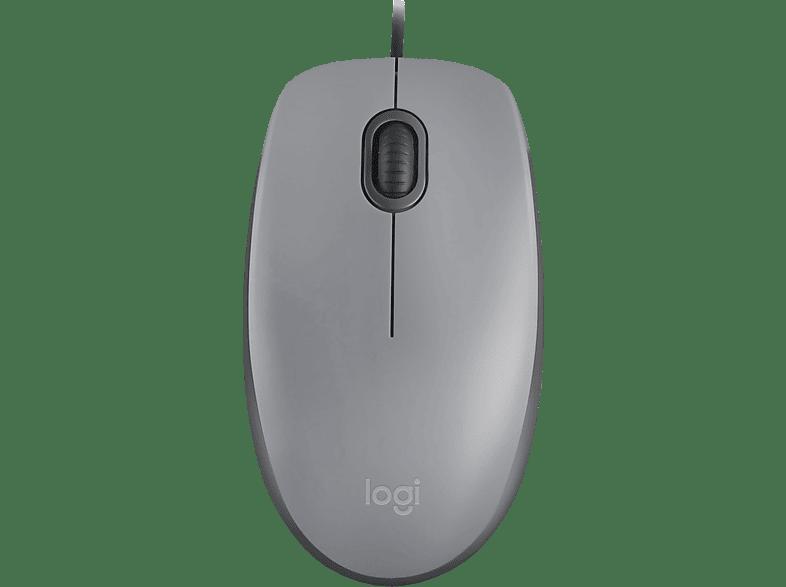 LOGITECH M110 Silent Maus, Grau