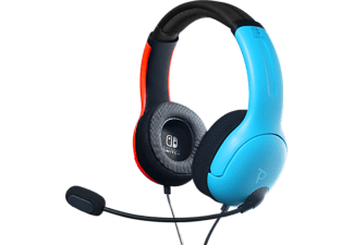 PDP PERFORMANCE LVL40 für Nintendo Switch - Gaming Headset (Neon-Rot/Neon-Blau/Schwarz)
