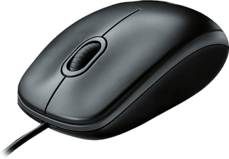 LOGITECH M100 USB Maus, Schwarz