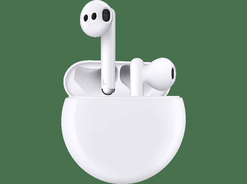 HUAWEI FreeBuds 3, In ear Kopfhörer Bluetooth Ceramic White