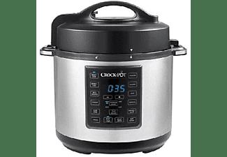 Ollas programables -  Crock-Pot CSC051X01, Olla cocción lenta, 5.7L, A presión eléctrica, Inox