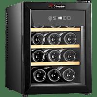 CLIMADIFF CLS12H Weinklimaschrank (135 kWh/Jahr, EEK A, Schwarz)