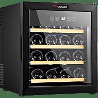 CLIMADIFF CLS16H Weinklimaschrank (209 kWh/Jahr, EEK C, Schwarz)